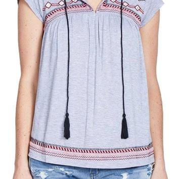 Amara THML Cotton Embroidered Top