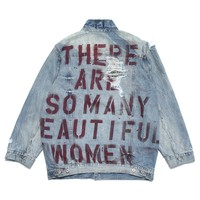 BEAUTIFUL WOMEN DESTROYED TRUCKER JACKET