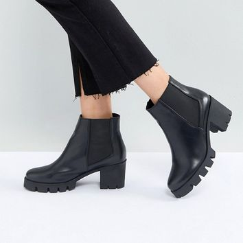 RAID Phoenix Black Chunky Heeled Ankle Boots at asos.com