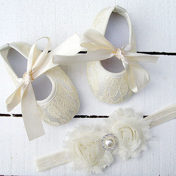 Shop Baby Girl Christening Shoes on Wanelo