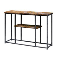 Ania Oxidized Black Console Table