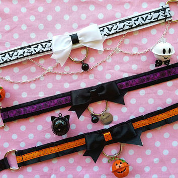 Ready to Ship Collars, Pet Play Collar, Kitten Play Collar, Tug Proof Collar, BDSM Collar, Ribbon Collar, Submissive Collar, DDLG Collar
