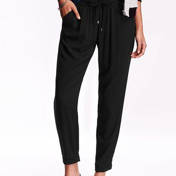 Old Navy Womens Mid Rise Pleated Soft Pants