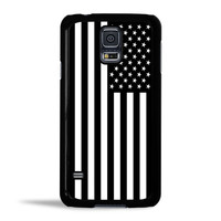 Black & White American Flag Case for Samsung Galaxy S5