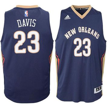 Youth New Orleans Pelicans Anthony Davis Navy Swingman Basketball Jersey