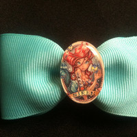 Tattoo princess the little mermaid Ariel hair bow
