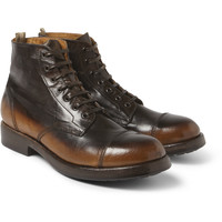 Officine Creative - Burnished-Leather Lace-Up Boots | MR PORTER