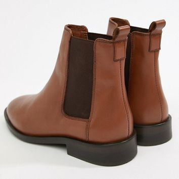 ASOS DESIGN Aura leather chelsea ankle boots at asos.com