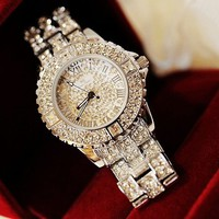 Bling Bling Handmade Diamond-studded Watch For Women from FUNKISS