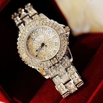 Bling Bling Handmade Diamond-studded Watch For Women from FloralKiss