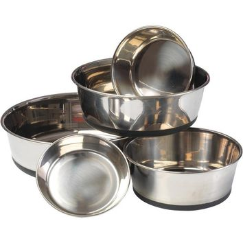 House of Paws HP609L Stainless Steel Dog Bowl with Silicon Base (L)
