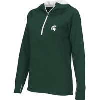 Colosseum Athletics Women's Michigan State Spartans Green Chelsea Quarter-Zip Hoodie | DICK'S Sporting Goods