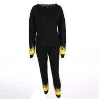 FLAMES OF HELL SWEAT SUIT SET