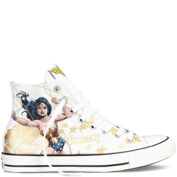34a8fe4657a9 Converse Chuck Taylor DC Comics Wonder Woman White Multi Hi Top