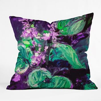 Ginette Fine Art Enigmatic Hosta Throw Pillow