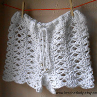 Crochet Shorts White Lace