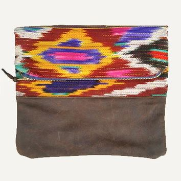 Ikat Fold-Over Clutch