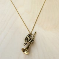 Trumpet Brass Necklace
