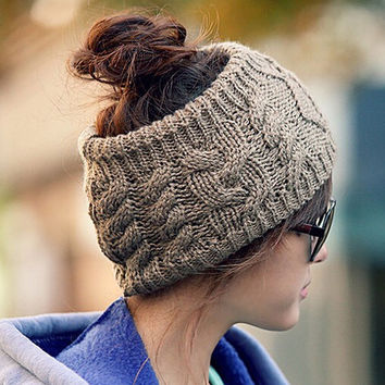 New Fashion 5 Color Warm Beanie Cotton and Acrylic women fall and winter warm hats, Fashion knitting empty hat Christmas gift