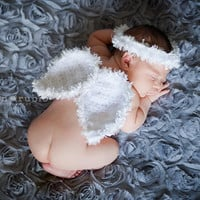Angel Wings and Halo Newborn Photo Prop by WillowsGarden on Etsy