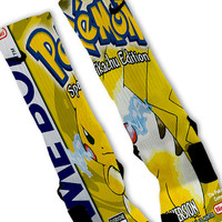 Pokemon Yellow Fast Shipping!! Nike Elite Socks Customized Pikachu