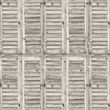 RUSTIC WHITE WOOD SHUTTERS PLATINUM CLOTH Backdrop 5x6 - LCPC2079 - LAST CALL
