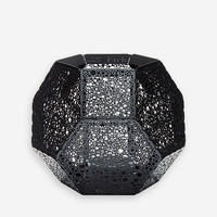 Etch Tea Light Holder Black