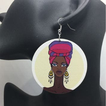 Headwrap Goddess Earrings | Natural hair earrings | Afrocentric earrings | jewelry | accessories