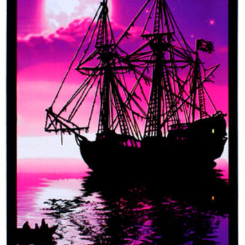 Moonlit Pirate Ghost Ship Blacklight Poster Art Print Posters at AllPosters.com