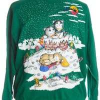 Green Ugly Christmas Sweatshirt 35953 - The Sweater Store