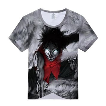ONE PIECE Luffy Zoro Trafalgar Law T-shirt Cosplay Costume Men Women Summer T Shirt Short Sleeve Tees