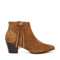 KG by Kurt Geiger Shimmy Tassel Detail Suede Ankle Boots