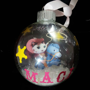 Sheriff Callie Floating  Christmas ornament personalized with Vinyl! Personalized Sheriff Callie ornament