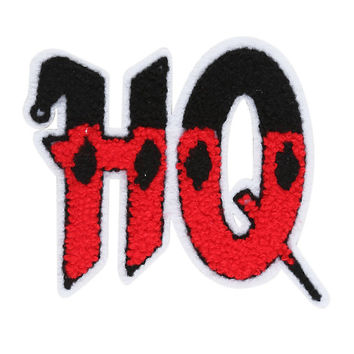 DC Comics Harley Quinn HQ Chenille Iron-On Patch