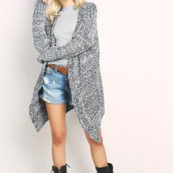 Marled Sweater Cardigan