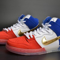 Nike Sb Dunk High Trico Tri-color Challenge Red/game Royal/white 313171-674 - Beauty Ticks