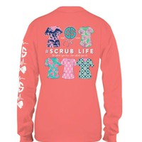 #Scrub Life Long Sleeve Tee by Simply Southern