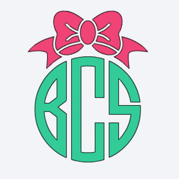Monogram Car Decal - Bow - Monogram Vinyl Decal - Yeti Monogram Decal - Bridesmaid Gift - Office Gift - Birthday Gift - Southern Monogram