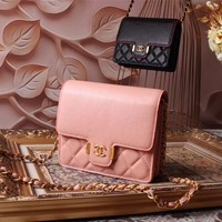 CHANEL WOMEN'S 2018 HOT STYLE LEATHER INCLINED CHAIN SHOULDER BAG