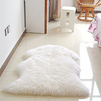 New Soft Faux Sheepskin Rug Mat Carpet Pad Anti-Slip Chair Sofa Cover