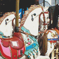 Merry Go Round, Carousel, Horse, Counted Cross Stitch Pattern, Xstitch Download PDF Pattern