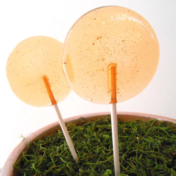 Ginger Peach Sweet Tea Gourmet Lollipops - Pick Your Size - Summer Party Favors - Wedding Favors - Rustic Theme