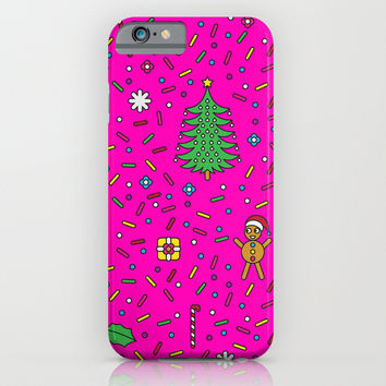 Christmas In Pink iPhone & iPod Case by Ornaart