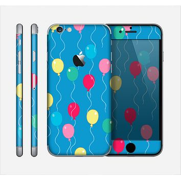 The Blue With Colorful Flying Balloons Skin for the Apple iPhone 6