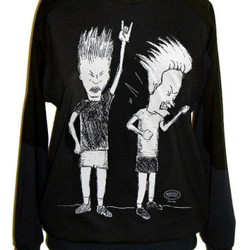 Beavis And Butthead Sketch Rockin Out Unisex Sweatshirt