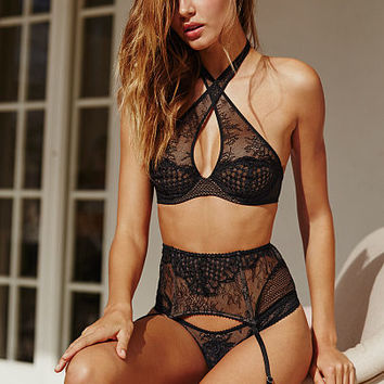 Limited Edition Fishnet & Lace Garter Belt - Very Sexy - Victoria's Secret
