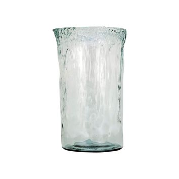 Maya Extra Large Vase In Recycled Glass