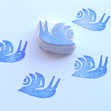 Snail mail stamp, snail stamp, snail rubber stamp, craft supplies, garden stamp, stamping, scrapbooking, diy, card making, wrapping, pen pal