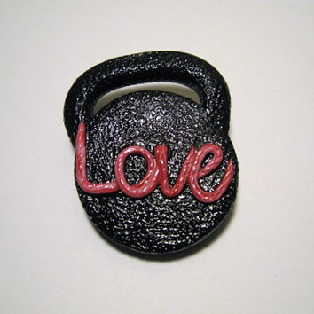 Valentines Kettlebell Love Pin and Decoration