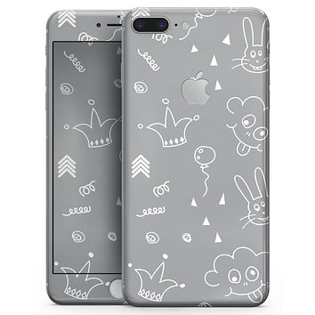 Gray Jester hat with Balloons - Skin-kit for the iPhone 8 or 8 Plus